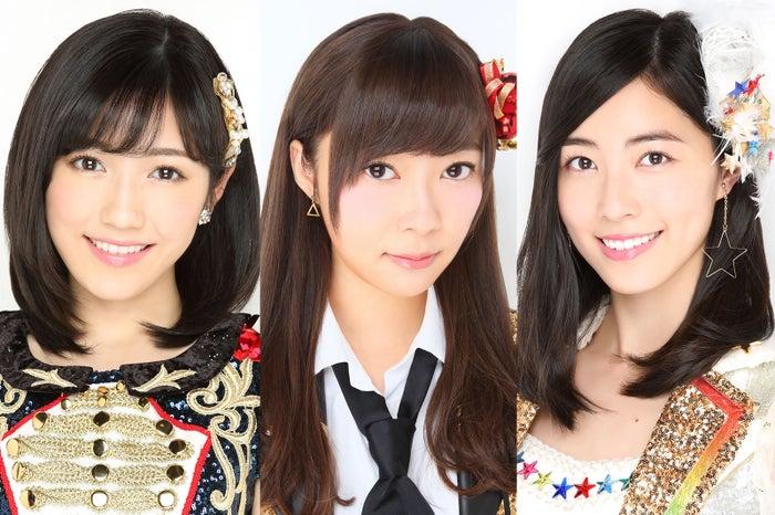 (左から)渡辺麻友、指原莉乃、松井珠理奈(C)AKS