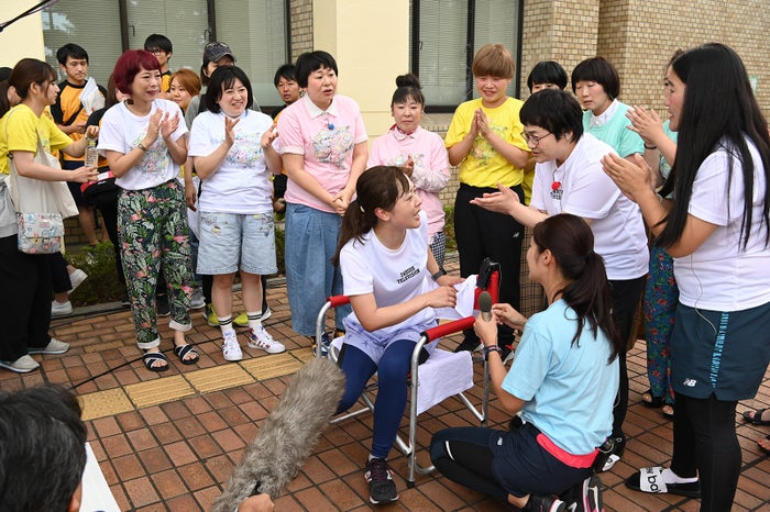 ゴール後の水卜麻美(C)日本テレビ