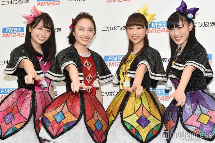(左から)佐々木彩夏、百田夏菜子、玉井詩織。高城れに (C)モデルプレス