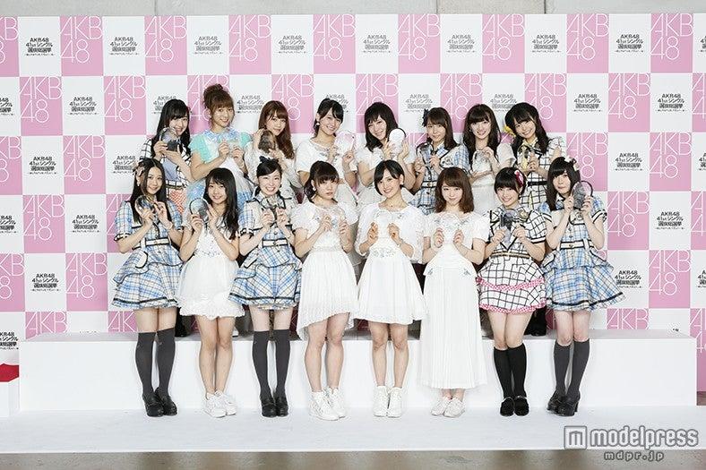「第7回AKB48選抜総選挙」にて17~32位「アンダーガールズ」入りを果たしたメンバー(C)AKS【モデルプレス】