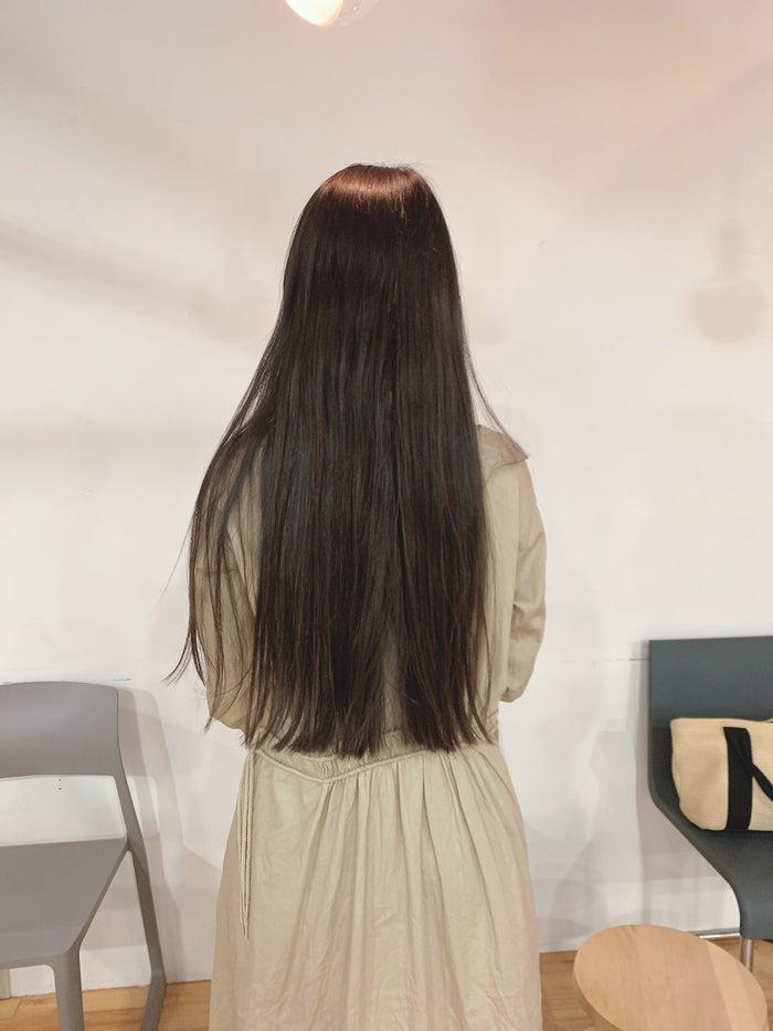 切った髪はヘアドネーションに(提供写真)