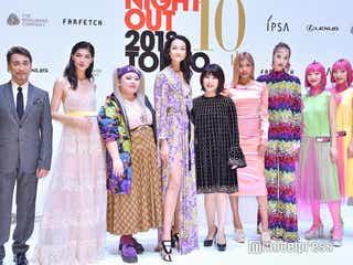 ローラ・渡辺直美・冨永愛ら「FNO2018」に豪華集結 個性豊かなファッションで彩る