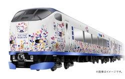 ハローキティ特別ラッピング列車が関西を運行、草花や蝶が舞う和モダンなデザインに