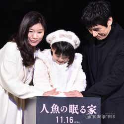 篠原涼子、稲垣来泉ちゃん、西島秀俊 (C)モデルプレス
