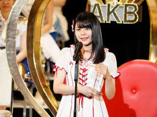 NGT48本間日陽、圏外から初選抜で涙 速報勢いそのまま大躍進<第9回AKB48選抜総選挙>