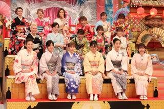 """若槻千夏・ダレノガレ明美・須田亜香里ら、晴れ着姿で""""毒出し""""新年会"""