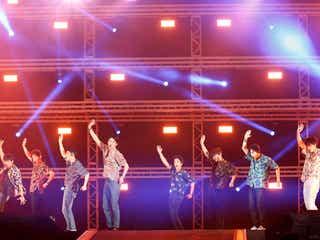 EXO、夏全開!汗だくパフォーマンスに会場熱狂<セットリスト/a-nation 2018>