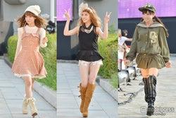 くみっきー、みずきてぃら「Popteen」モデル総出演で盛り上がるファッションショー<写真特集>/左から西川瑞希、舟山久美子、椎名ひかり