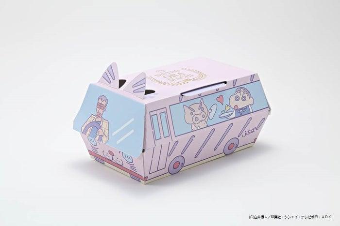 ふたば幼稚園バスの特製ボックス (C)臼井儀人/双葉社・シンエイ・テレビ朝日・ADK