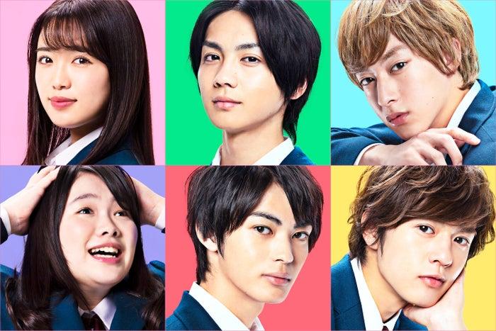 (上段左から)山口乃々華、吉野北人、伊藤あさひ(下段左から)富田望生、神尾楓珠、奥野壮(C)2020『私がモテてどうすんだ』製作委員会