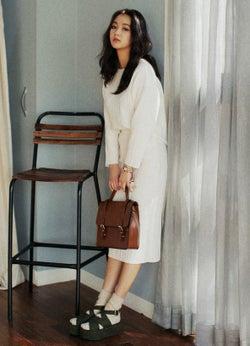 ウエストゴムリンクルミモレ丈スカート「DHOLIC」3,153円(税込)/画像提供:DHOLIC