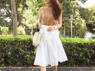 さらっと爽やかに着こなしたい。白のスカートで大人シンプルなコーディネート9選♪