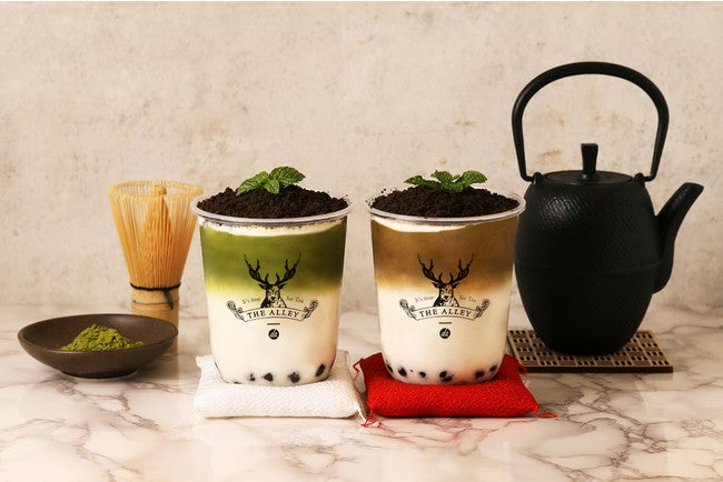 盆栽抹茶タピオカラテ、盆栽ほうじ茶タピオカラテ/画像提供:ポトマック