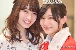 「女子高生ミスコン」初代&二代目グランプリ(左から)りこぴん、ゆきゅん (C)モデルプレス