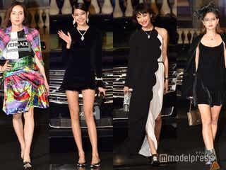 【写真特集】森星・山田優・ベッキーらが美脚競演 華やかドレスでブラックカーペットに集結<BAZAAR ICONS>