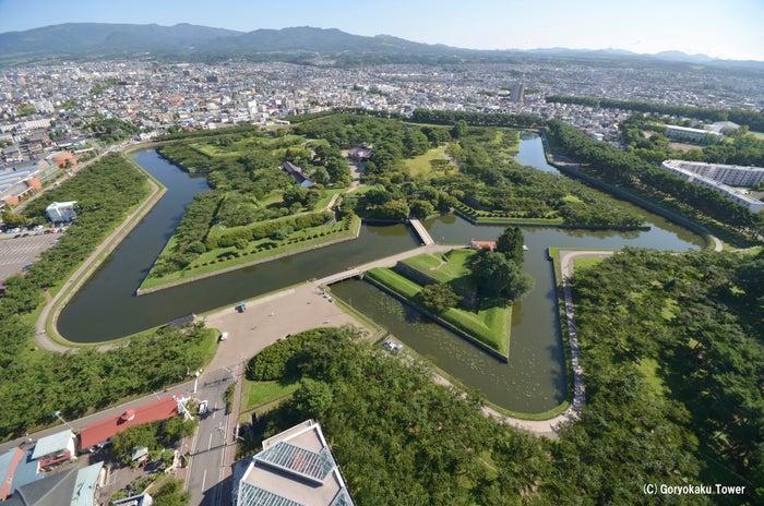 展望台から五稜郭を一望(提供画像:函館市観光部)