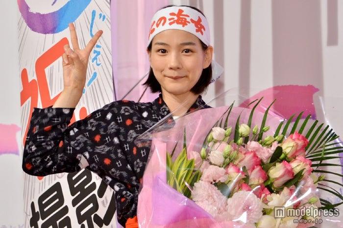 「あまちゃん」クランクアップ取材会に出席した能年玲奈