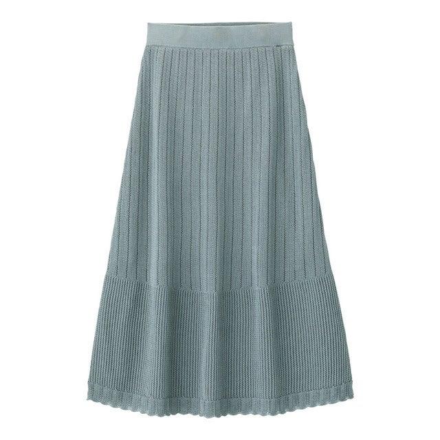 gu 透かし編みニットスカート