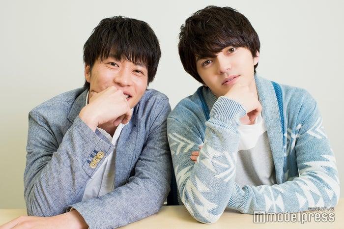 モデルプレスのインタビューに応じた田中圭、林遣都 (C)モデルプレス