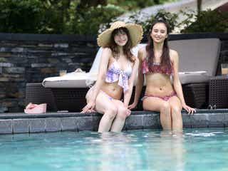 石田ニコル&野崎萌香、水着で美ボディ披露 絶叫体験も<Natural Beauty Camp 2017 in Singapore>