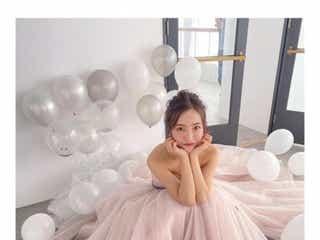板野友美、ウェディングドレス姿公開に「幸せオーラ溢れてる」の声