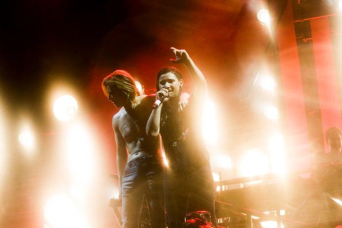 YOSHIKI、DJ Skrillex/「FUJI ROCK FESTIVAL '18」の様子(提供写真)