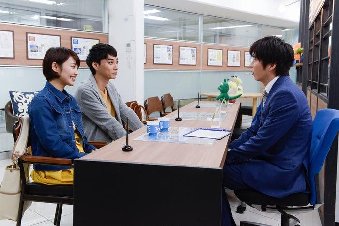 吉谷彩子、渋谷謙人、田中圭/「おっさんずラブ」第2話より(C)テレビ朝日