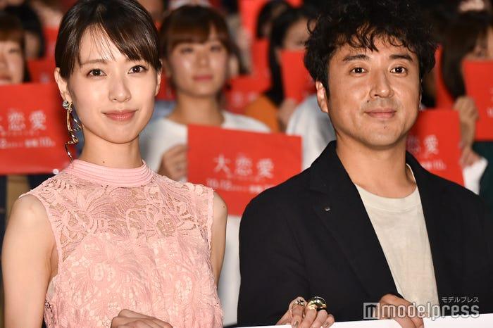 ドラマ「大恋愛~僕を忘れる君と」で共演中の戸田恵梨香、ムロツヨシ (C)モデルプレス