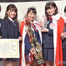 (左から)りおちょん(ヤングジャンプ賞)、ざわこ(審査員特別賞)、めいめい(グランプリ、マクドナルド賞)、ほのぴぴ(準グランプリ、フリュー賞)、千尋(モデルプレス賞) (C)モデルプレス
