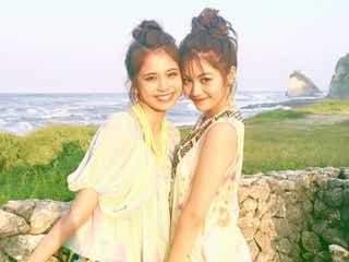 "E-girls""ツインタワー""楓&佐藤晴美、お揃いお団子ヘアが可愛い!「双子みたい」「最高です」"