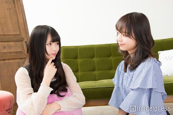 ヘアカラーに挑戦したい津代美月さんに黒口那津さんがアドバイス(C)モデルプレス