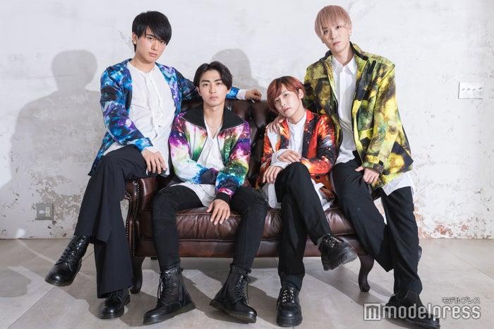 (左から)村田琳、赤名竜之輔、富園力也、柴崎翔 (C)モデルプレス