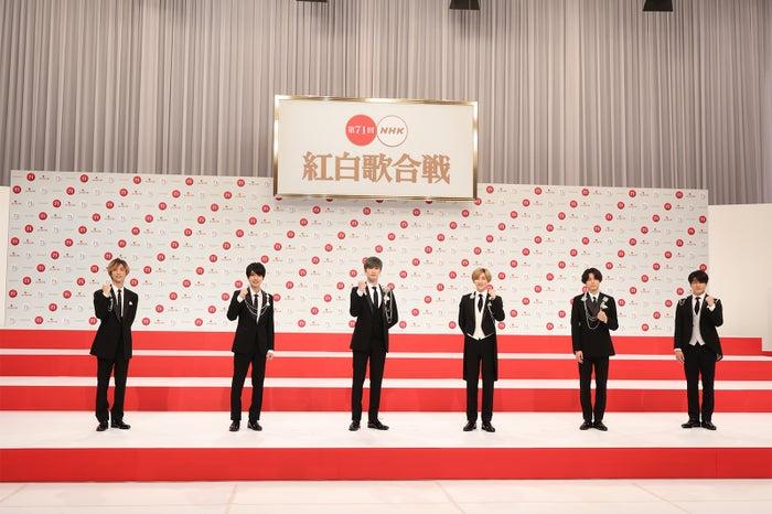 SixTONES「第71回紅白歌合戦」出場歌手発表記者会見(C)NHK