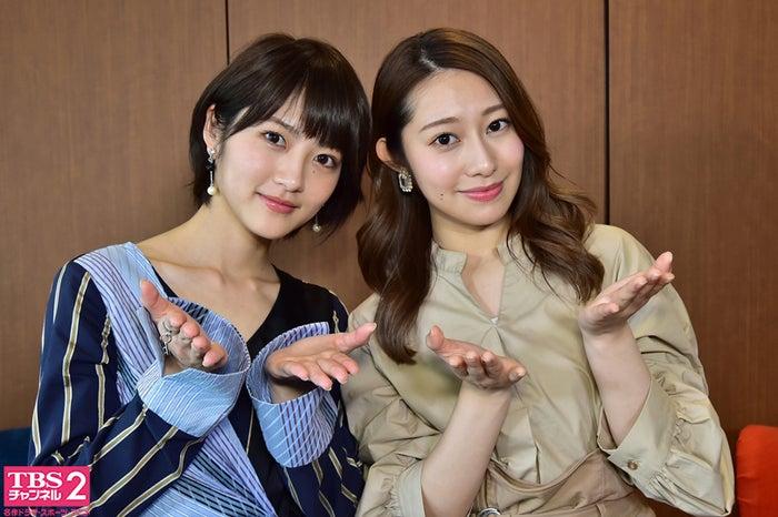(左から)若月佑美、桜井玲香(画像提供:TBS)