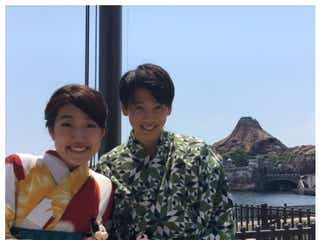 竹内涼真と浴衣ディズニーデート ハンバーガー頬張る笑顔に横澤夏子興奮「地元のやつらにマジで自慢する」