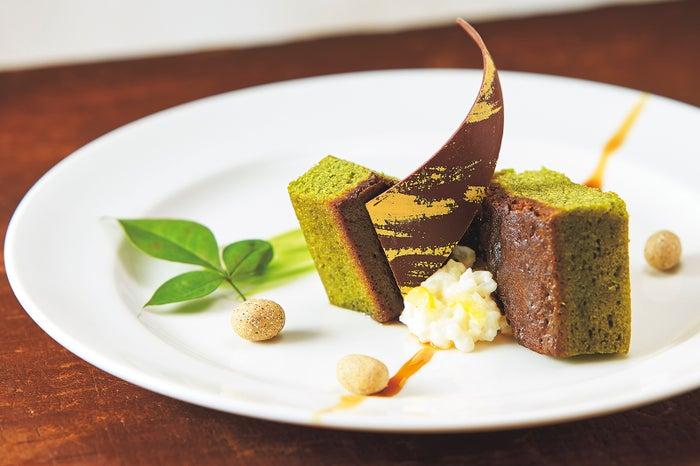 抹茶のパウンドケーキとお米のデザート/画像提供:ユー・エス・ジェイ