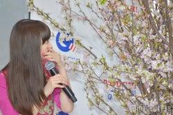 本物の桜だと知り驚く森川葵