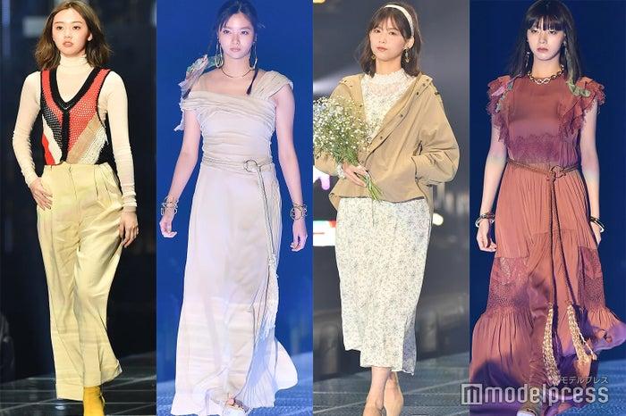 (左から)江野沢愛美、新川優愛、渡邉理佐、池田エライザ(C)モデルプレス