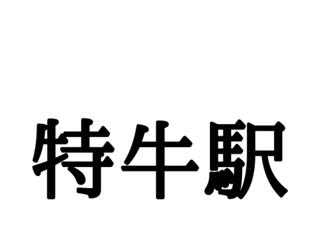 「特牛駅」これなんて読む?読めたらすごい日本の難読駅名まとめ