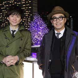 フジテレビ系『ダブルKENのぶらキュンナイト~美女と夜遊び2016新春SP~』/渡部建(左)、矢作兼(右)