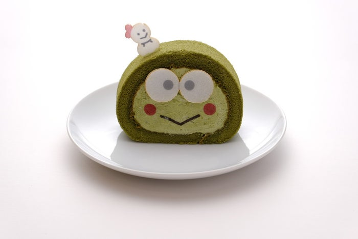 サンリオキャラクターロールケーキ(全4種)各460円/けろけろけろっぴ・抹茶味(提供画像)