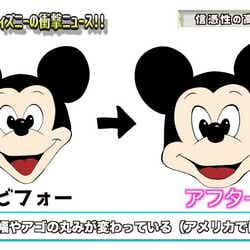 ミッキーマウス、顔デザイン変更のイメージイラスト(ラファエル提供画像)