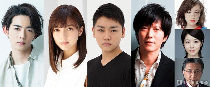 (左から)竜星涼、真野恵里菜、泉澤祐希、田辺誠一(右上から)太田莉菜、堀内敬子、大石吾朗