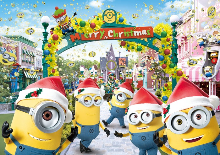 ミニオン・パークのイエロー・クリスマス/画像提供:ユニバーサル・スタジオ・ジャパン