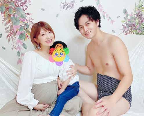 梅田賢三、妻・矢口真里とのマタニティフォトを公開「手島優さんに撮って頂きました」