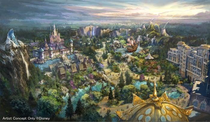 新テーマポートの全景(C)Disney