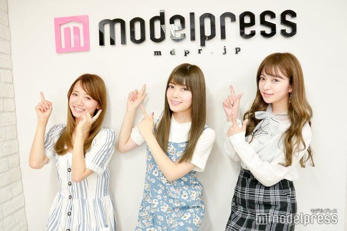 (左から)赤埴奈津子さん、長岡真由さん、船木沙織さん(C)モデルプレス