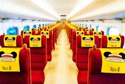 """JR九州、""""ミッキー新幹線""""運行へ 描き下ろしデザインで車内外を装飾"""