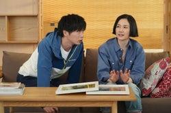 田中圭・原田知世/「あなたの番です」第1話より(C)日本テレビ