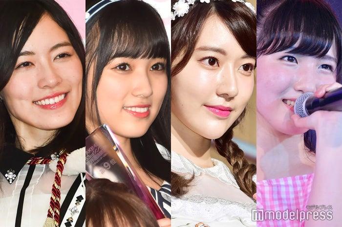 左から:松井珠理奈、矢吹奈子、宮脇咲良、本田仁美 (C)モデルプレス